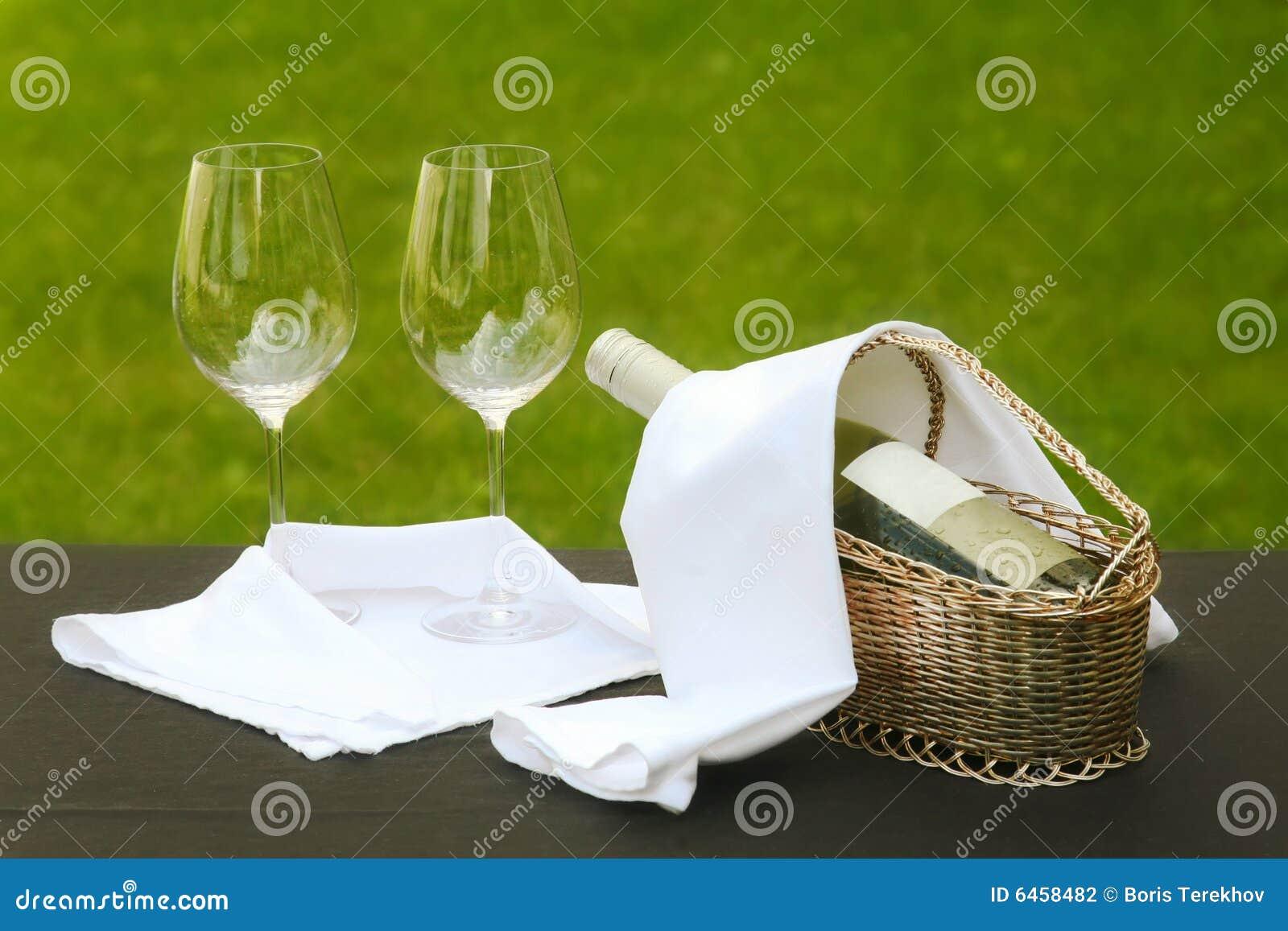 Romantyczne miejsce stolik na zewnątrz