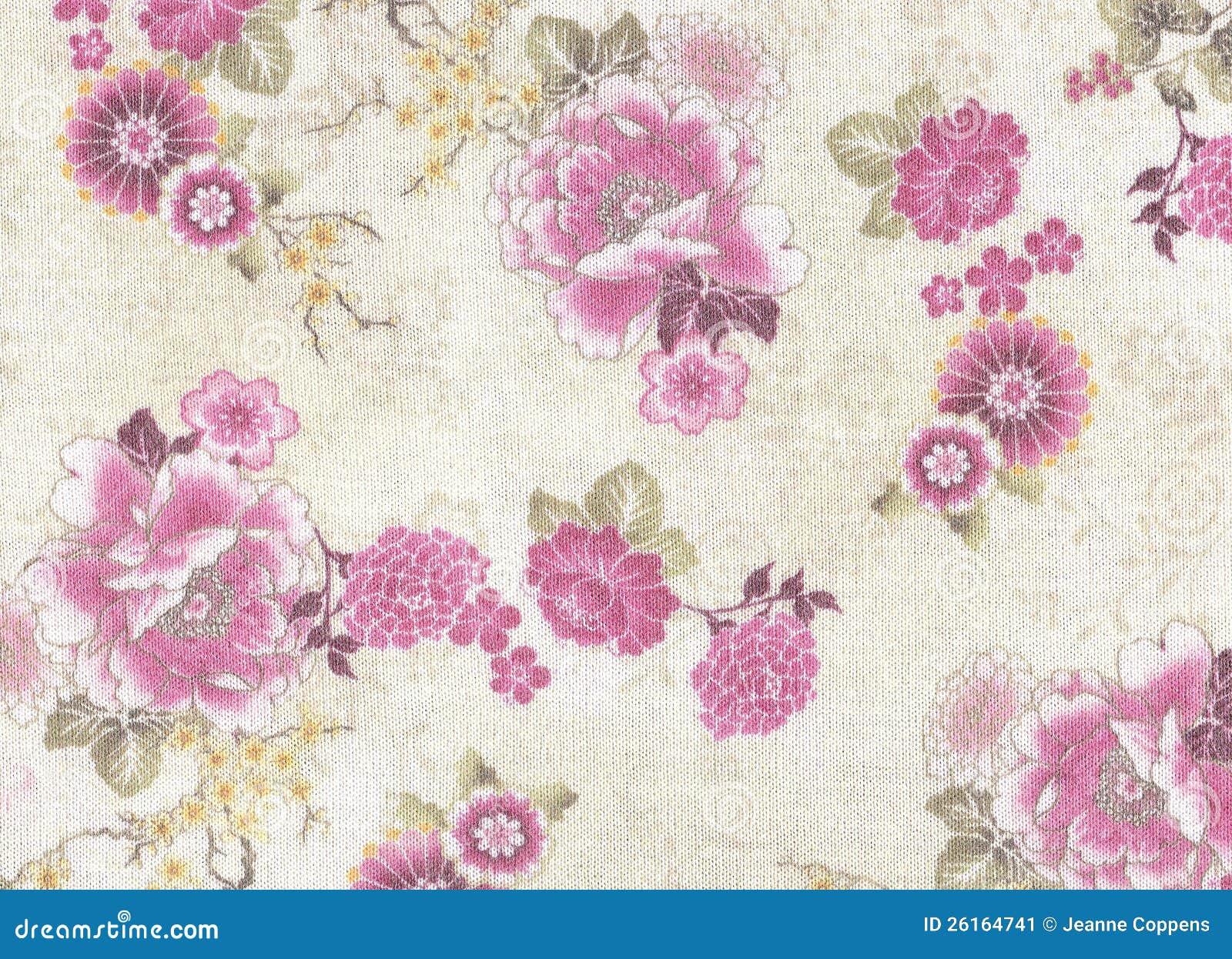 Romantyczny różowy kwiecisty wzór.