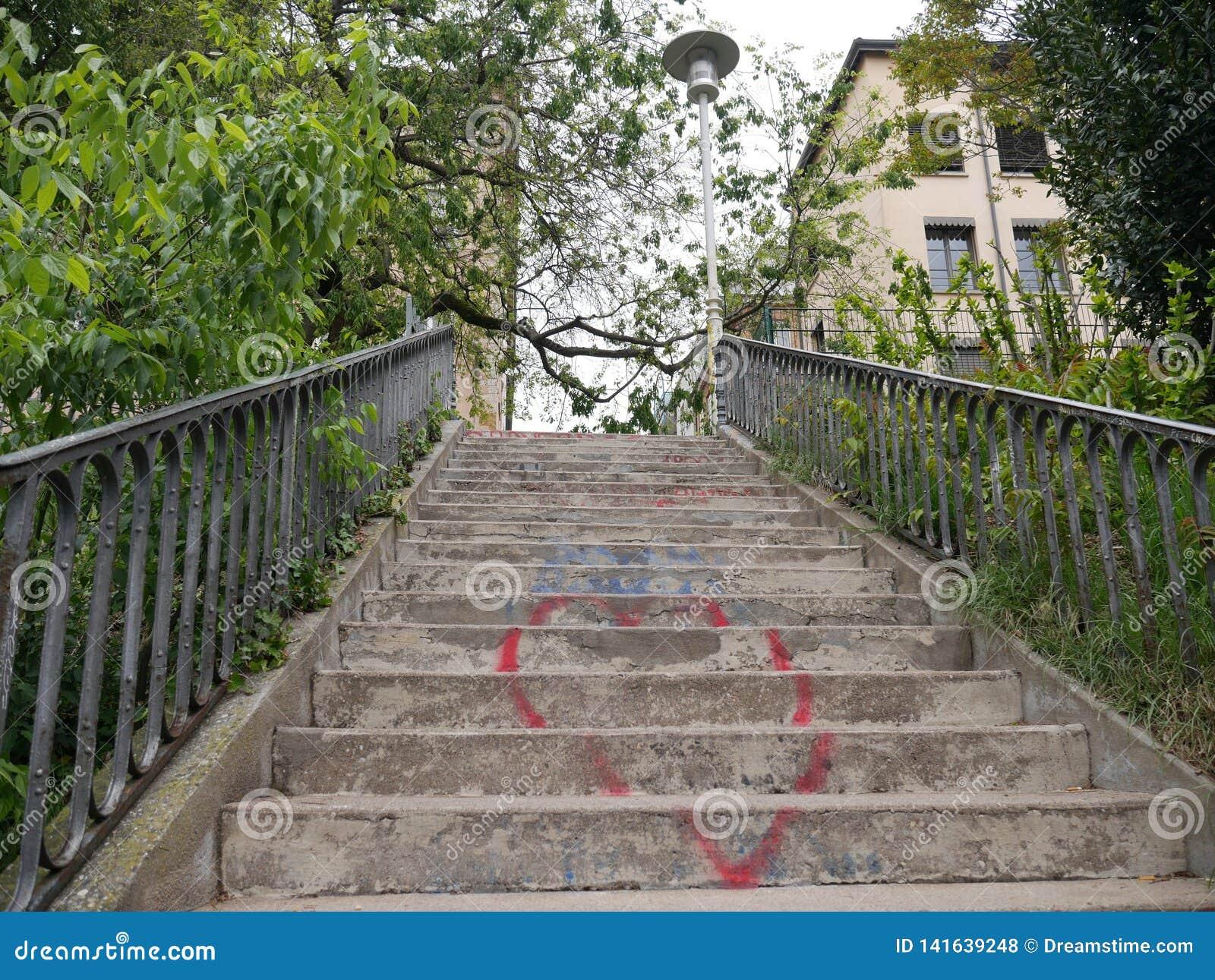 Romantyczny schody niebo