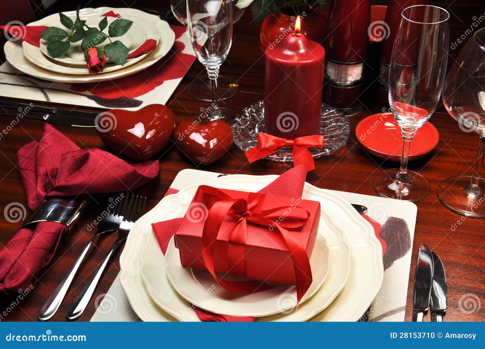 Romantyczny walentynka gość restauracji dla Dwa