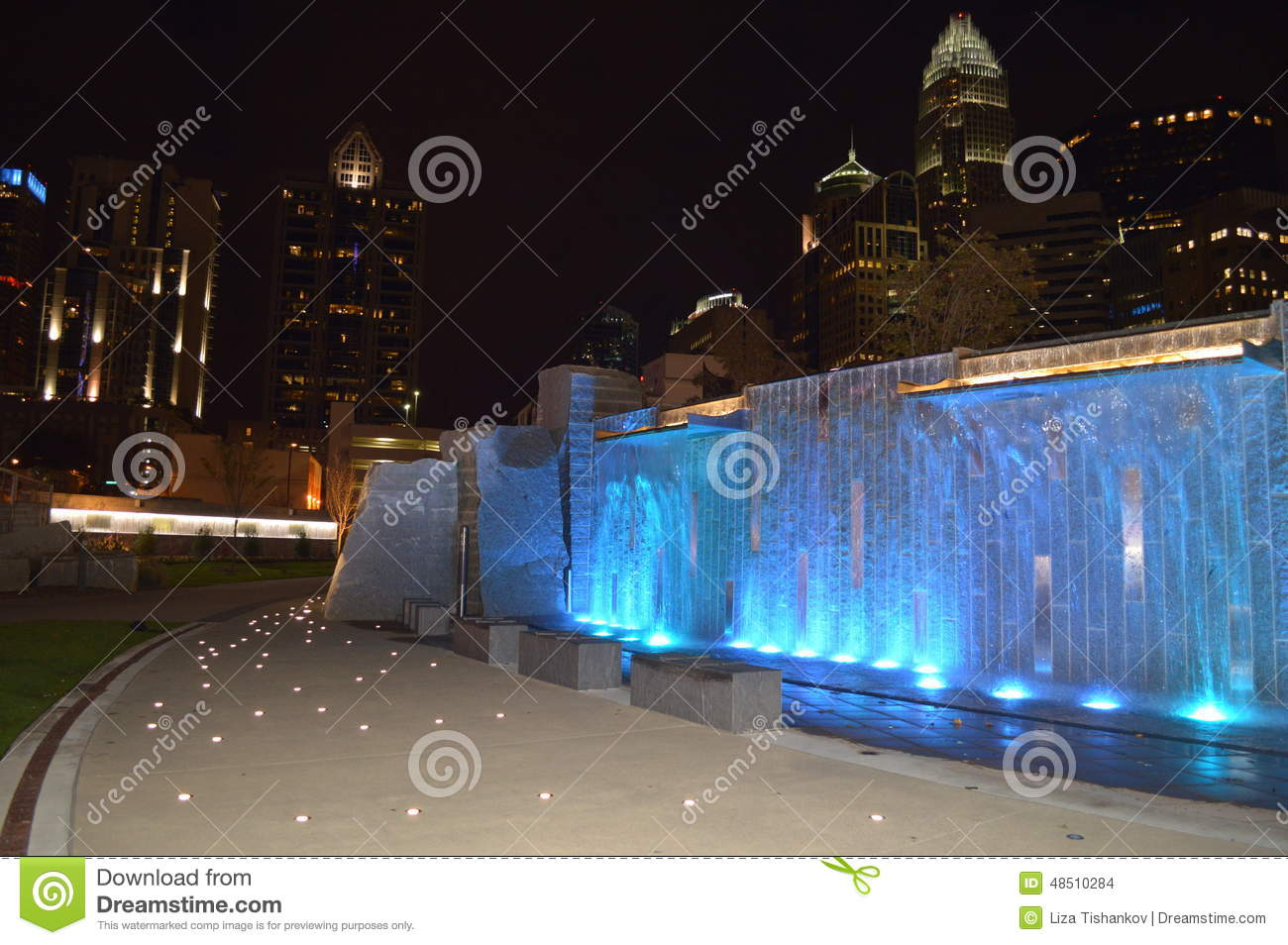 Water fountains charlotte nc - Romare Bearden Park Stock Images