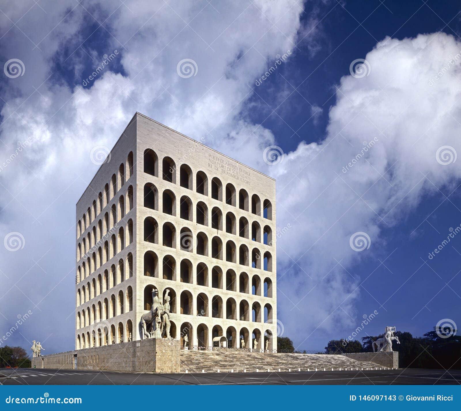 Rome EUR-fyrkant Colosseum