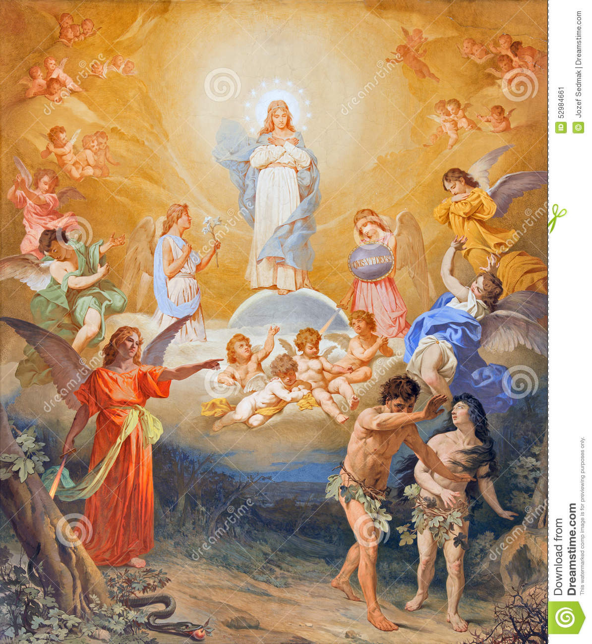 rome the expulsion of adam and eve from paradise on the vault of