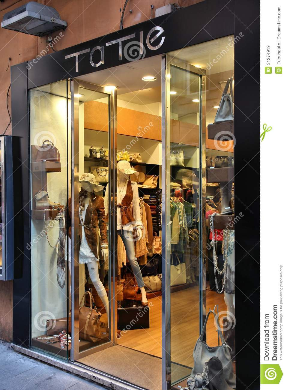 Clothing stores in rome