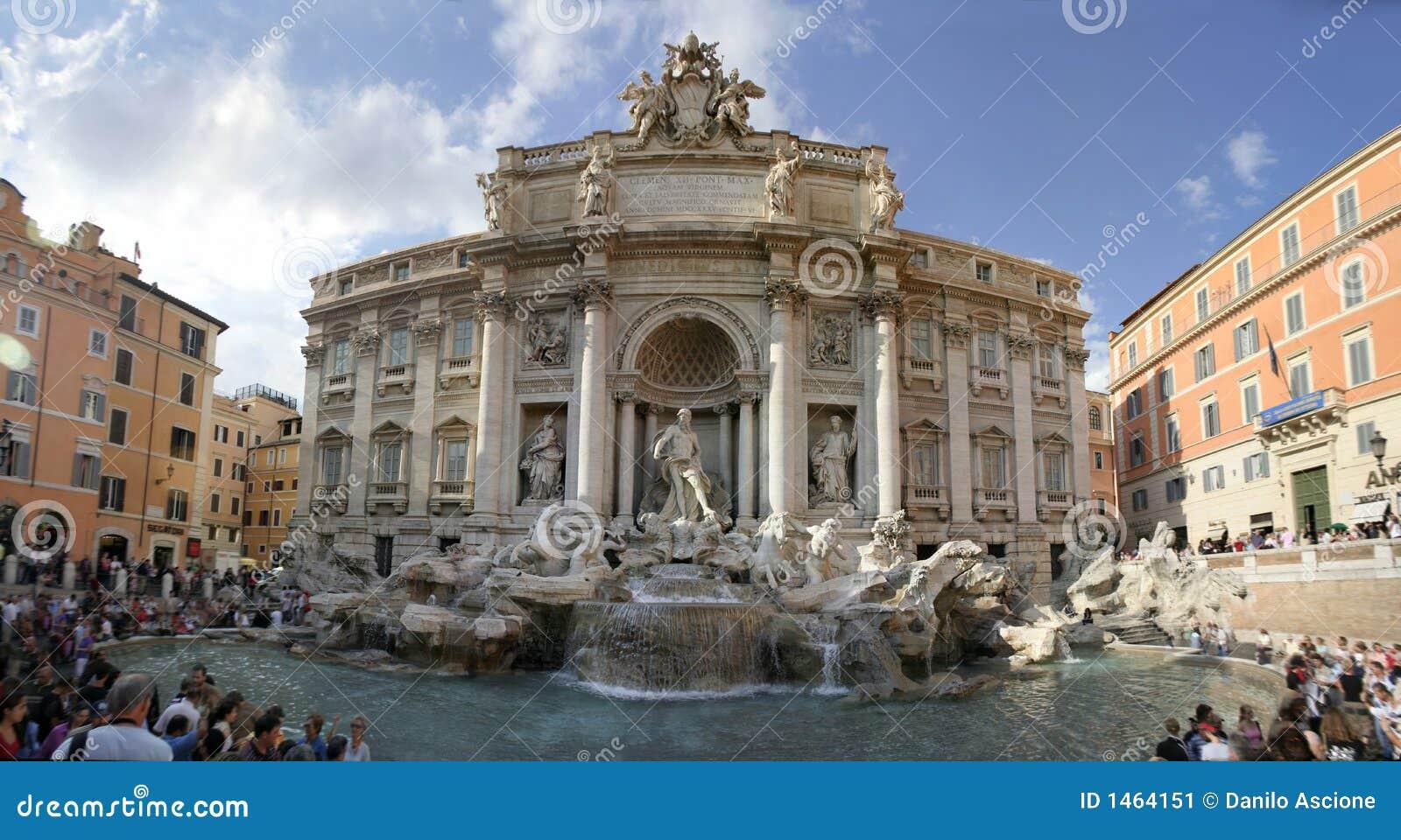 Rome - fontaine de TREVI - panorama