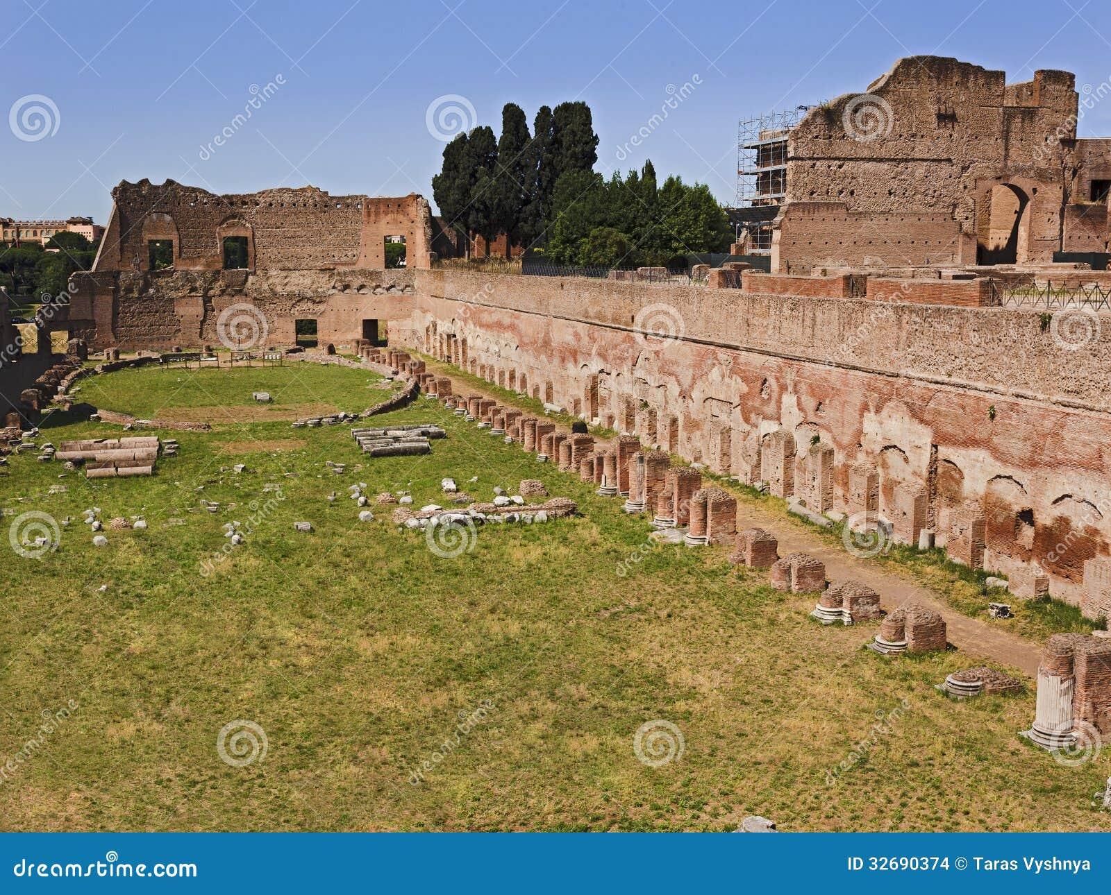 Rome Forum Stadium stock photo  Image of latin, romanesque