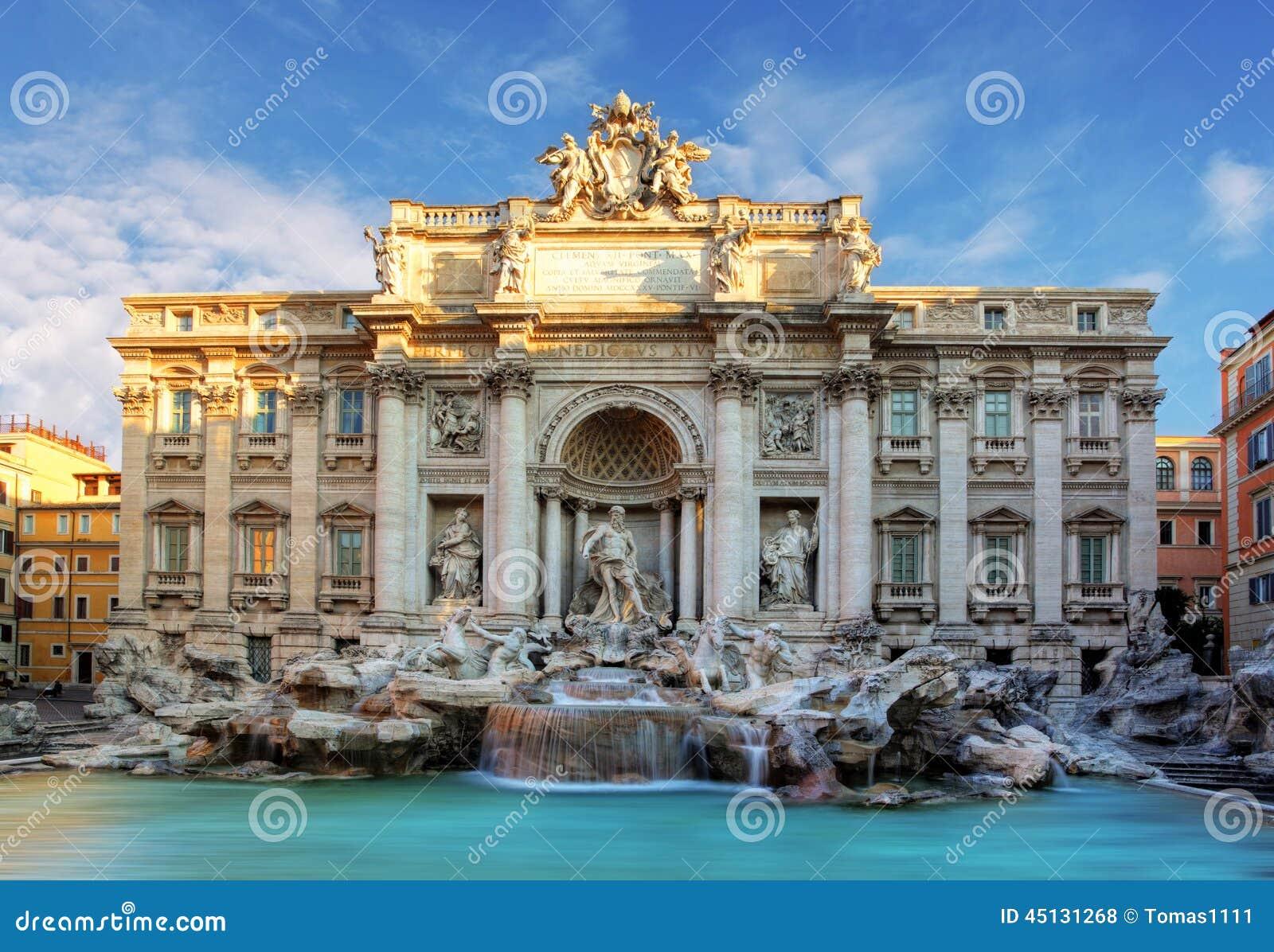 Rome, Fountain Di Trevi, Italië