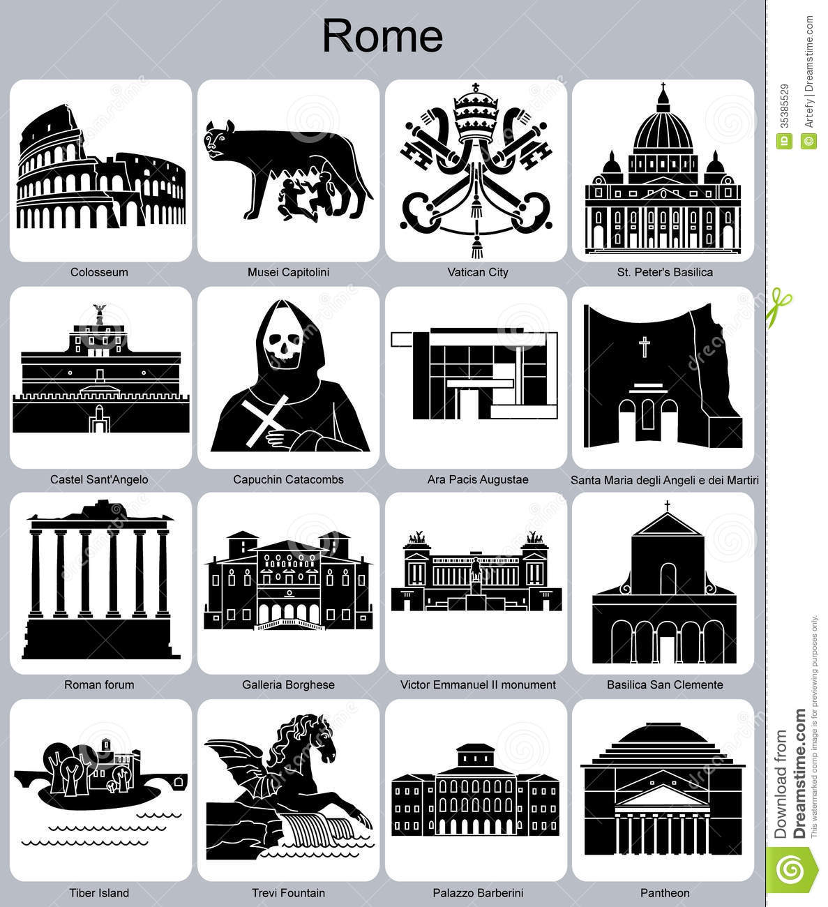 Anicent, building, creative, dome, grid, italy, pantheon, roman ...