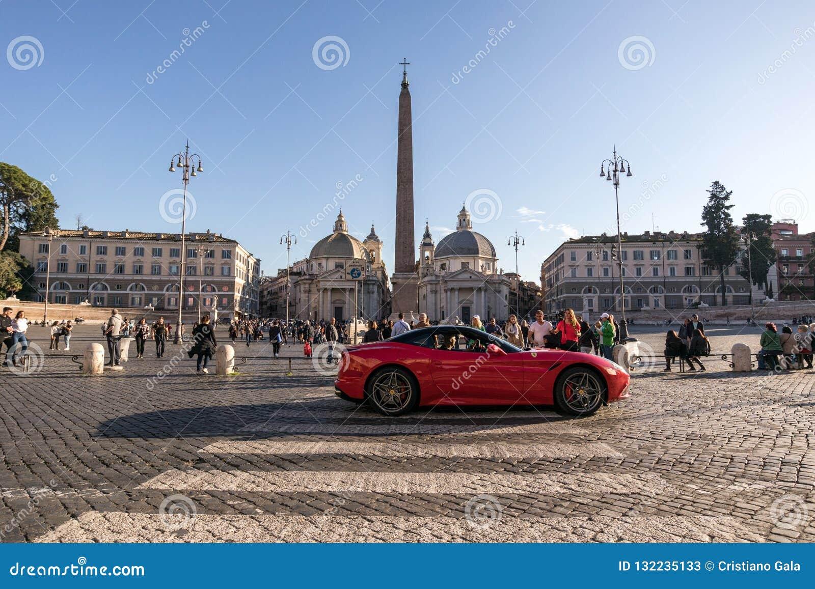 11/09/2018 - Rome Italien: PA för söndag eftermiddagFerrari sportbil