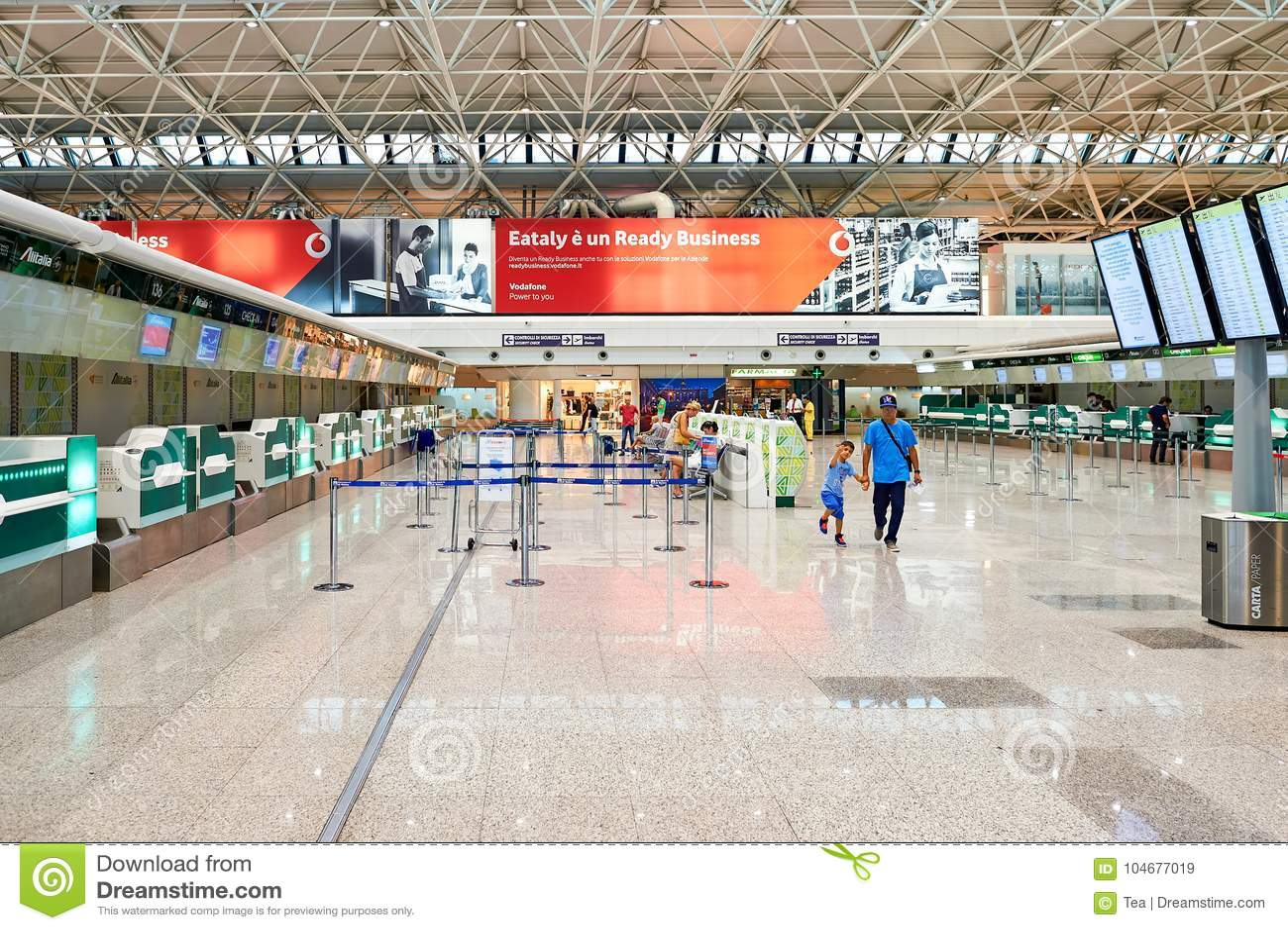 Fiumicino Airport editorial stock image  Image of avia