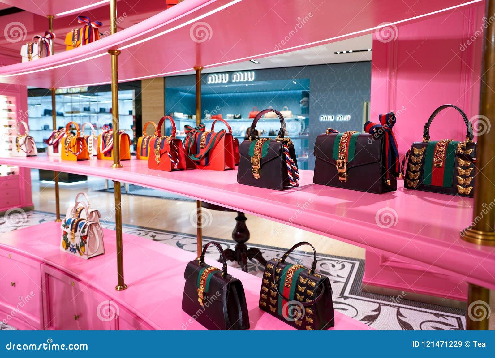 37ca6e206dc Gucci editorial stock image. Image of shop