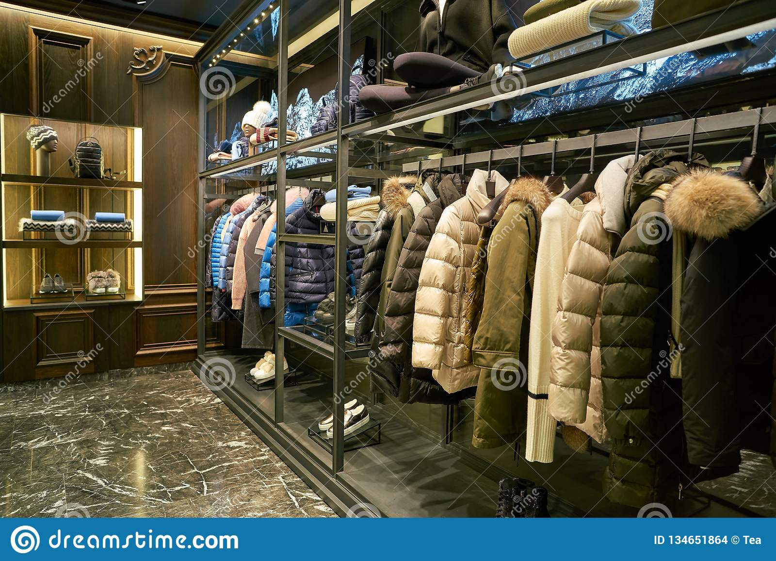 0fa98c095 Moncler editorial stock image. Image of design, mall - 134651864