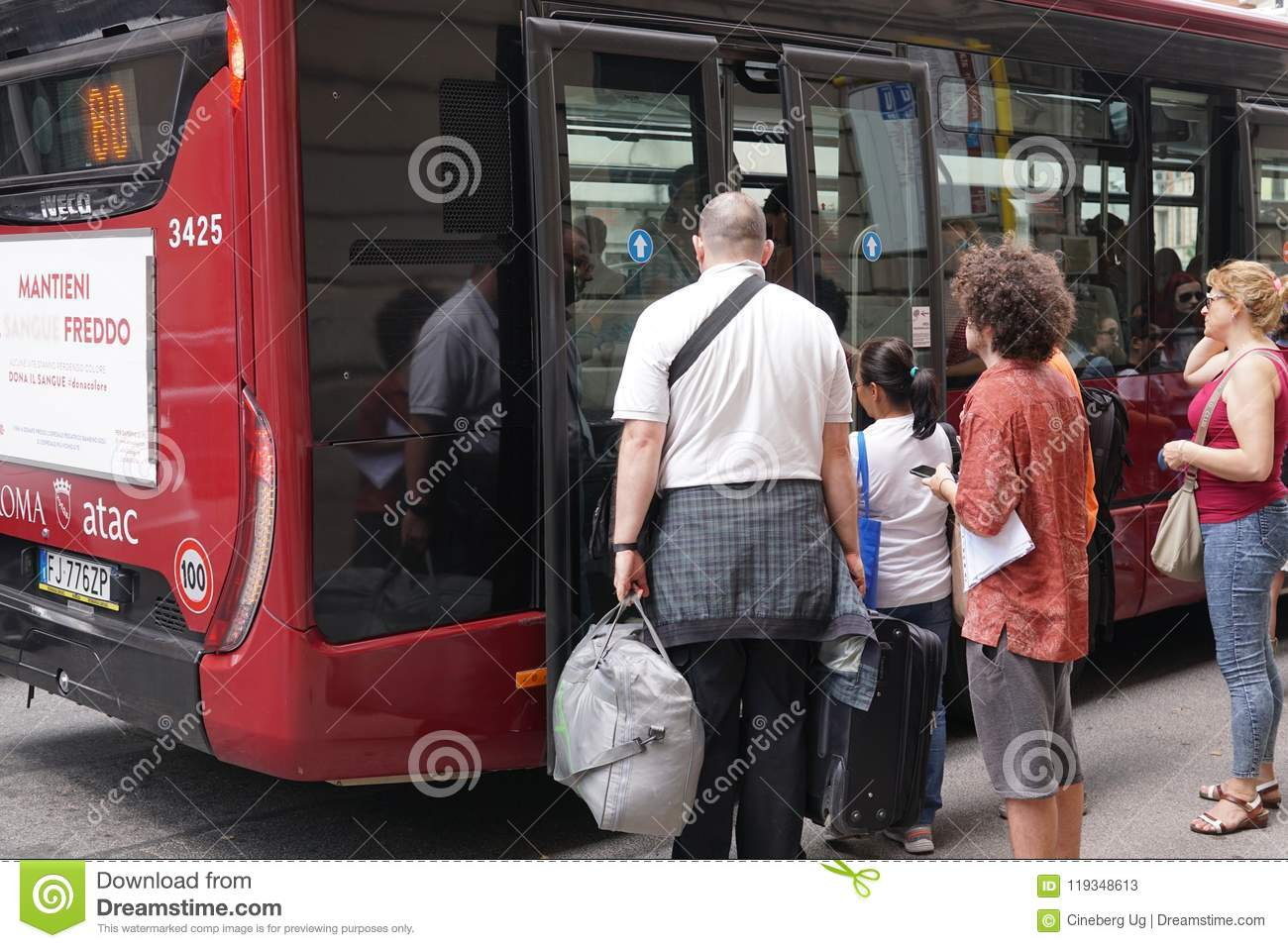 Atac bus, Rome editorial stock photo  Image of fast - 119348613