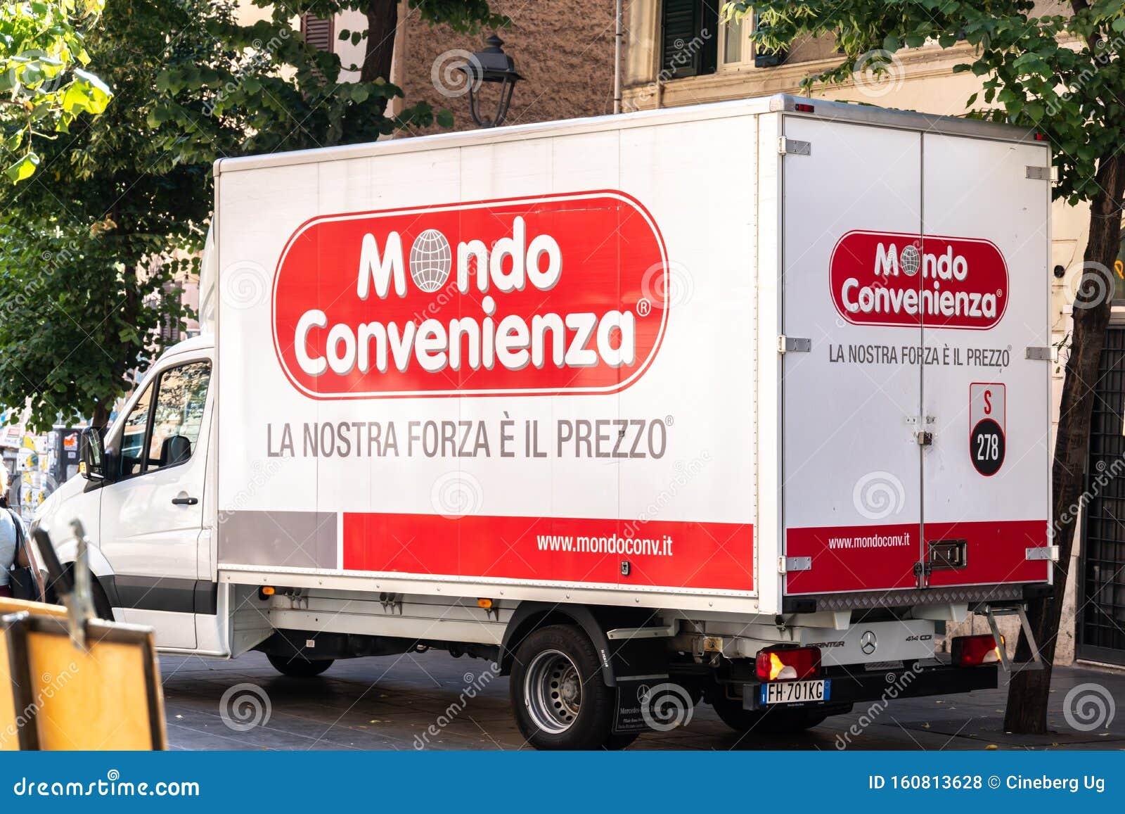 Italian Company Mondo Convenienza Delivery Van Editorial Stock Photo Image Of Emblem Living 160813628