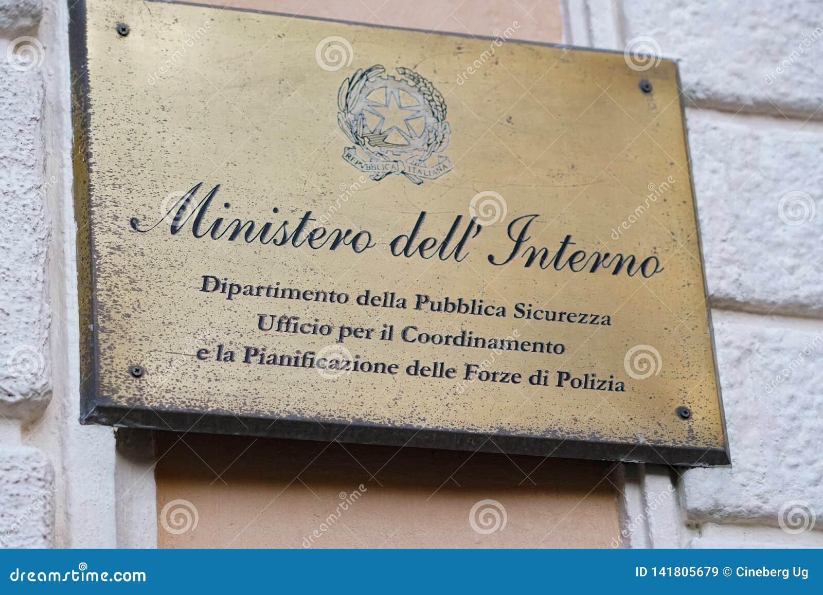 Italian Ministry of Interior Department