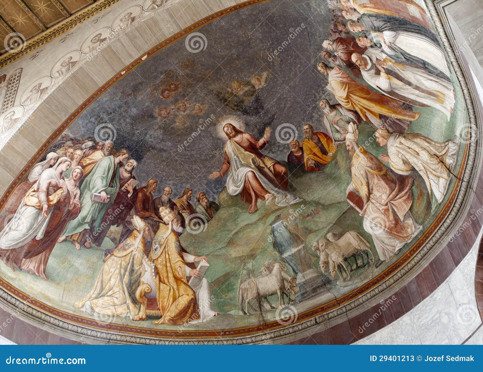 Rome - Jesus The Teacher - Santa Sabina Stock Image ... Santa Sabina Interior