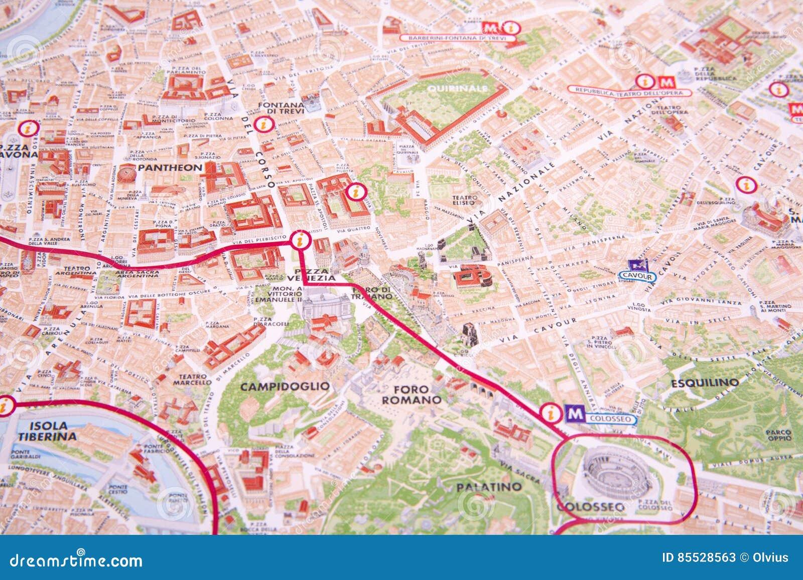 The Rome Map Stock Image Image Of Europe Pushpin Mediterranean