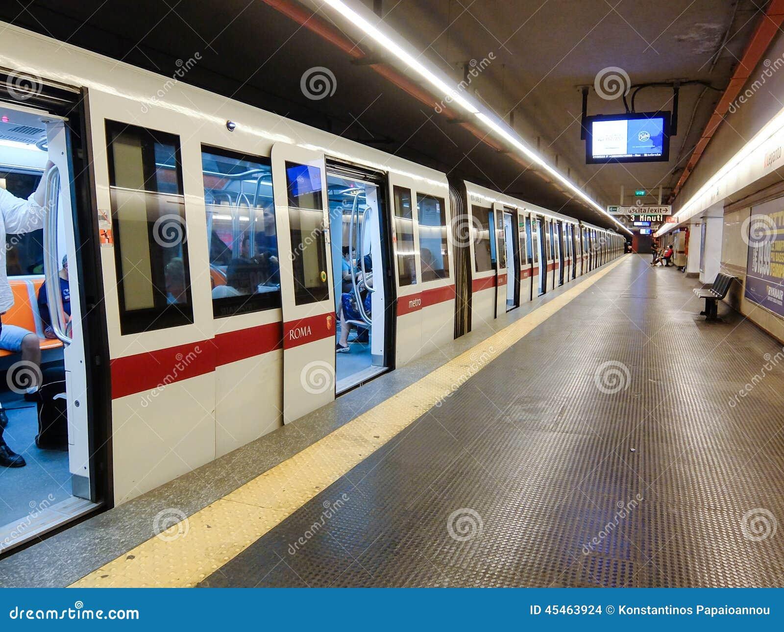 Rome metro italy editorial stock image image of metro for Metro interieur
