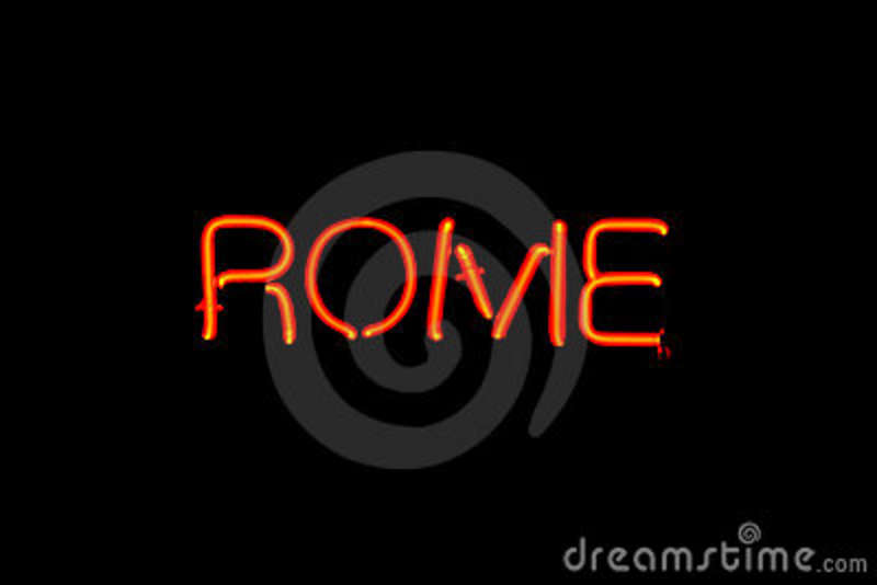 Rome Neon Sign Royalty Free Stock Photos - Image: 16419618