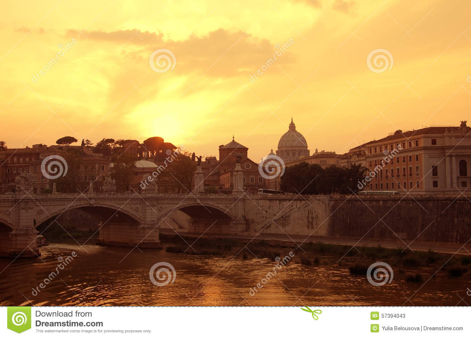 Rome op zonsondergang