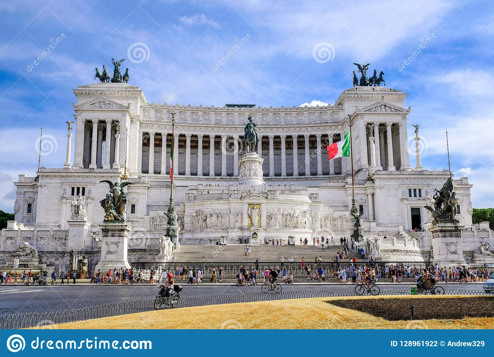 Rome, Piazza Venezia, Vittoriano Autel de della Patria - monument de patrie ou d Altare de Victor Emmanuel 2, premier roi