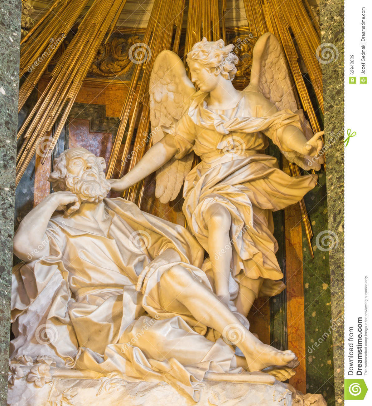 Rome the statue of apparition of angel to st joseph by for Joseph e joseph italia