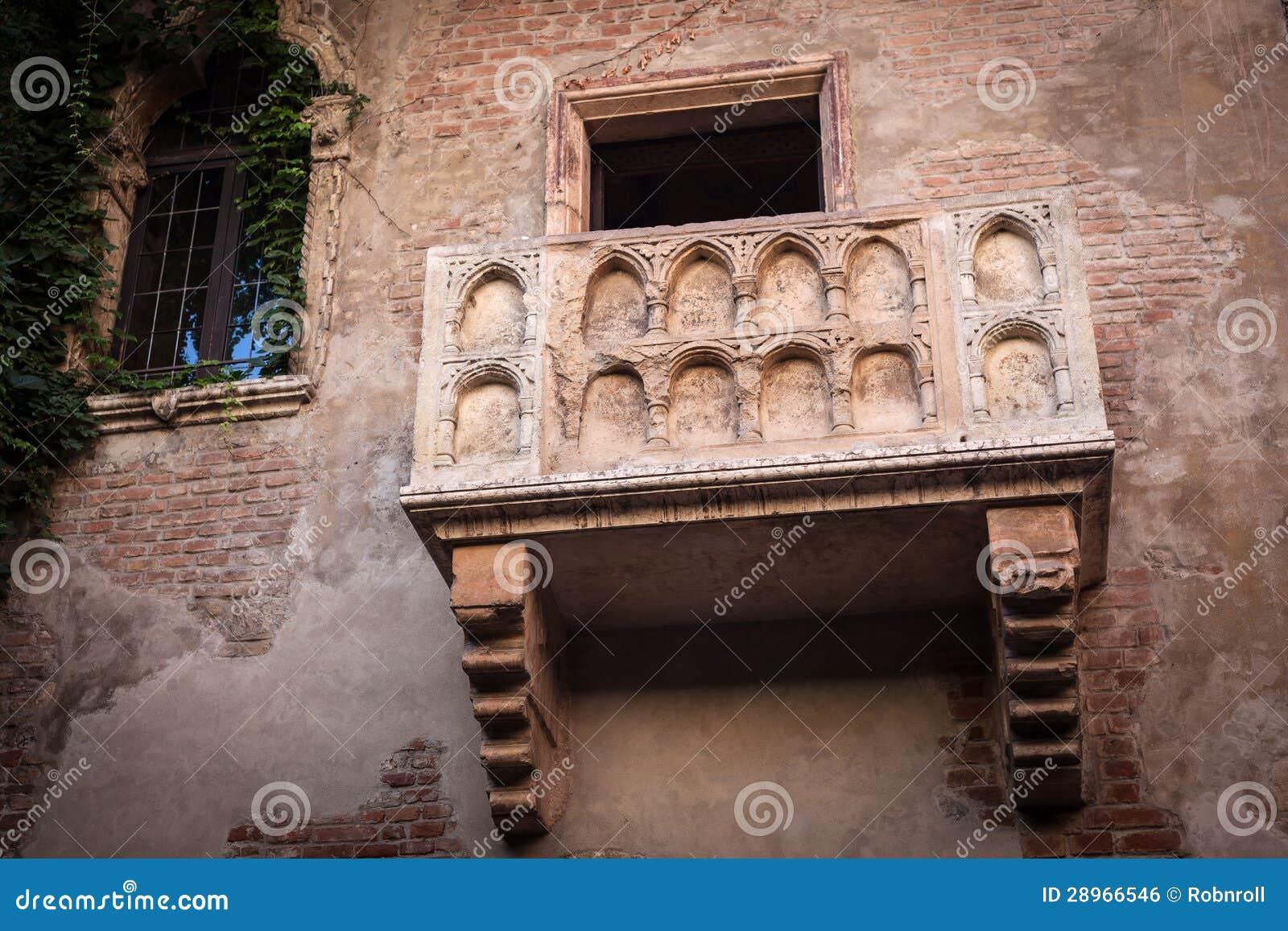 Romeo i Juliet balkon w Verona, Włochy