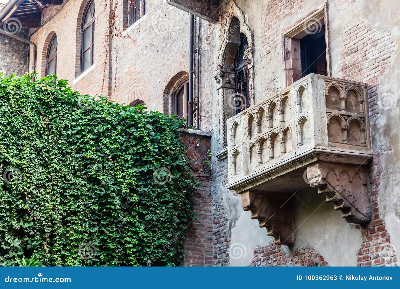 Romeo Und Juliet Balkon In Verona Italy Stockbild Bild Von Schon