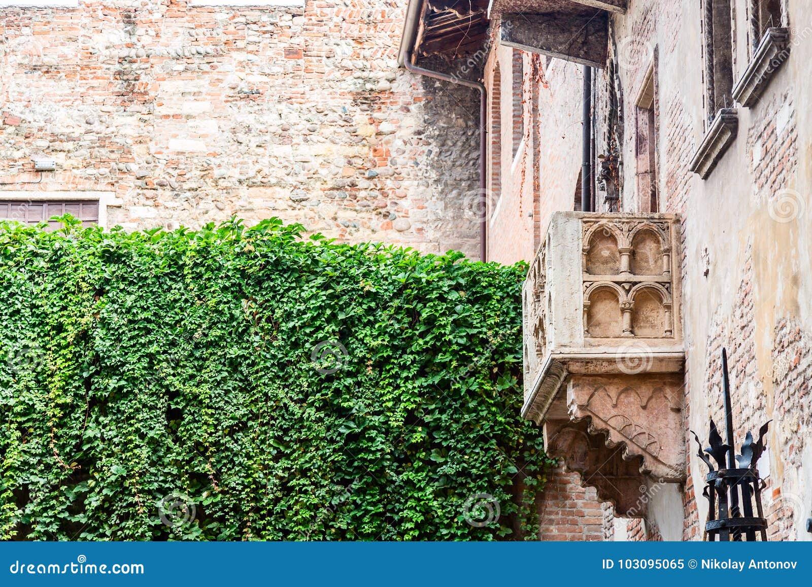Romeo Und Juliet Balkon In Verona Italy Stockbild Bild Von Liebe