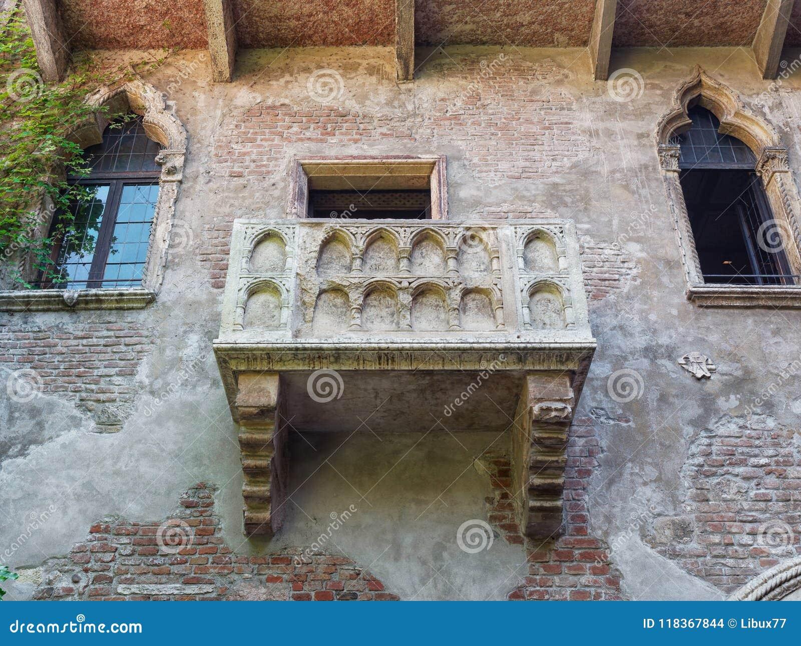 Romeo Und Juliet Balkon Verona Italy Stockfoto Bild Von Kultur