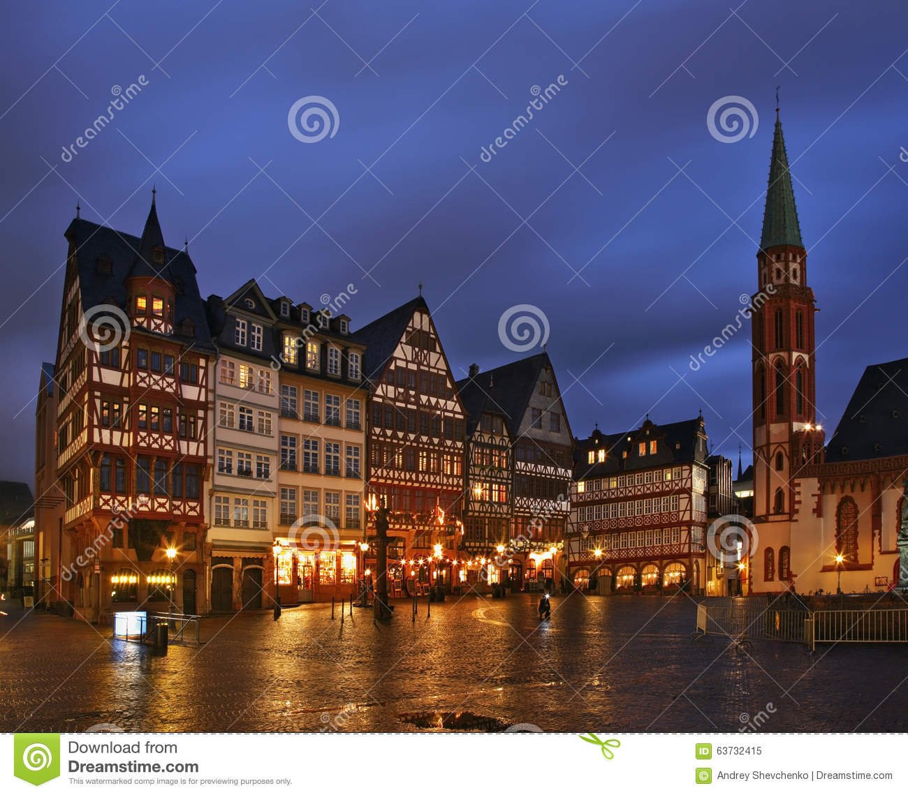 romerberg plaza roemer square in frankfurt am main germany stock image image 63732415. Black Bedroom Furniture Sets. Home Design Ideas