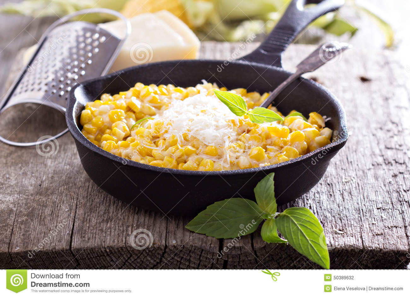 Romig graan met parmezaanse kaas
