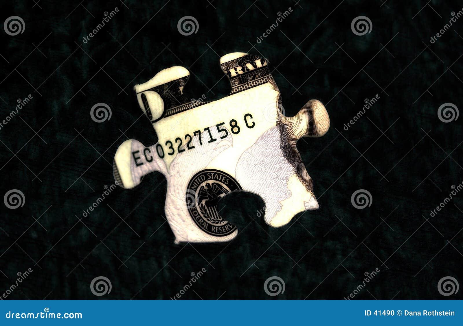 Download Rompecabezas 1 del dinero foto de archivo. Imagen de retrato - 41490