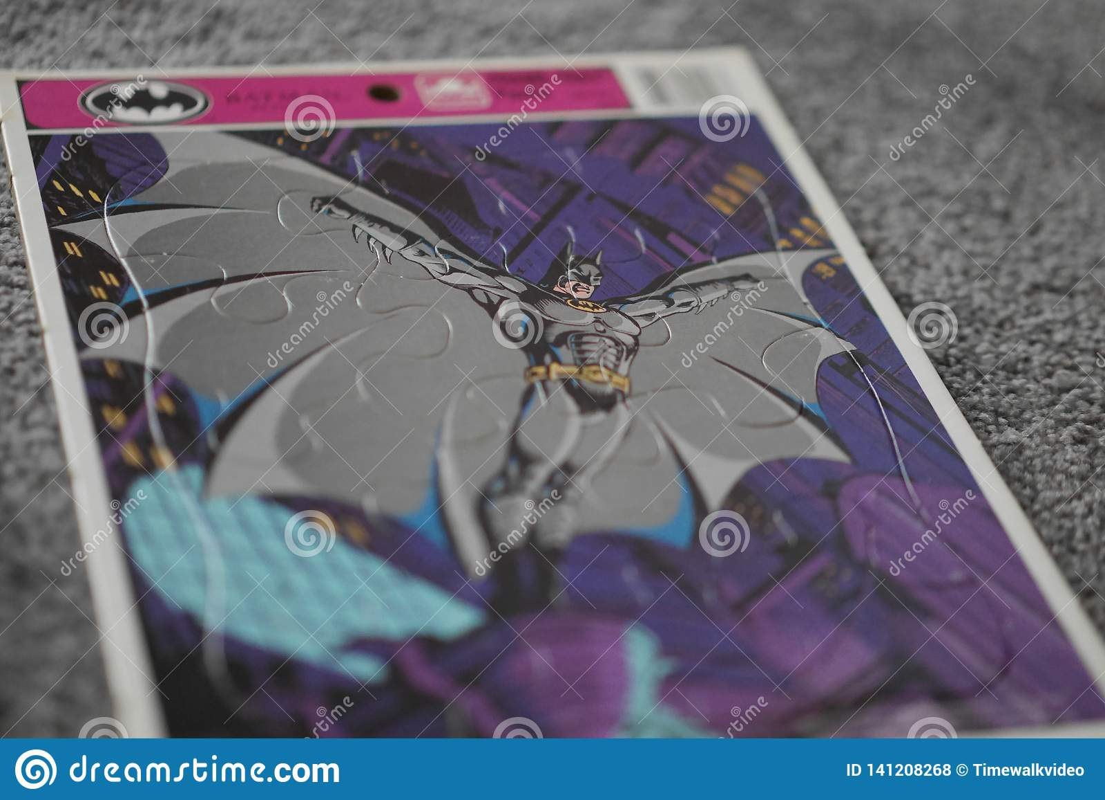 Rompecabezas de Batman del vintage del niño