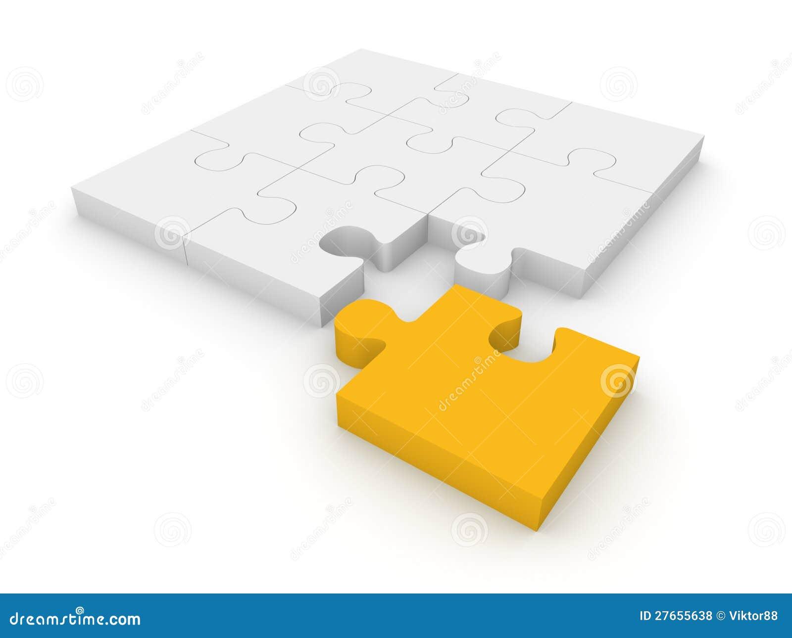 Rompecabezas de rompecabezas con diverso pedazo