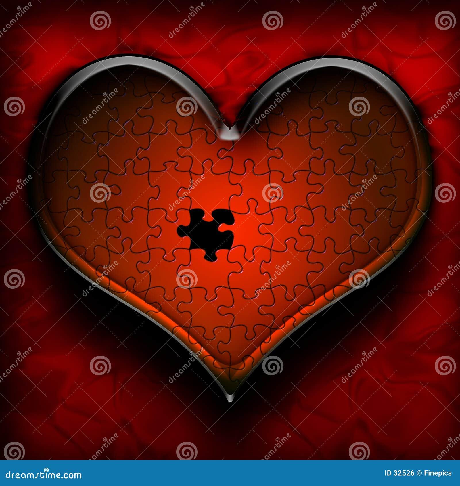 Download Rompecabezas del corazón stock de ilustración. Ilustración de usted - 32526