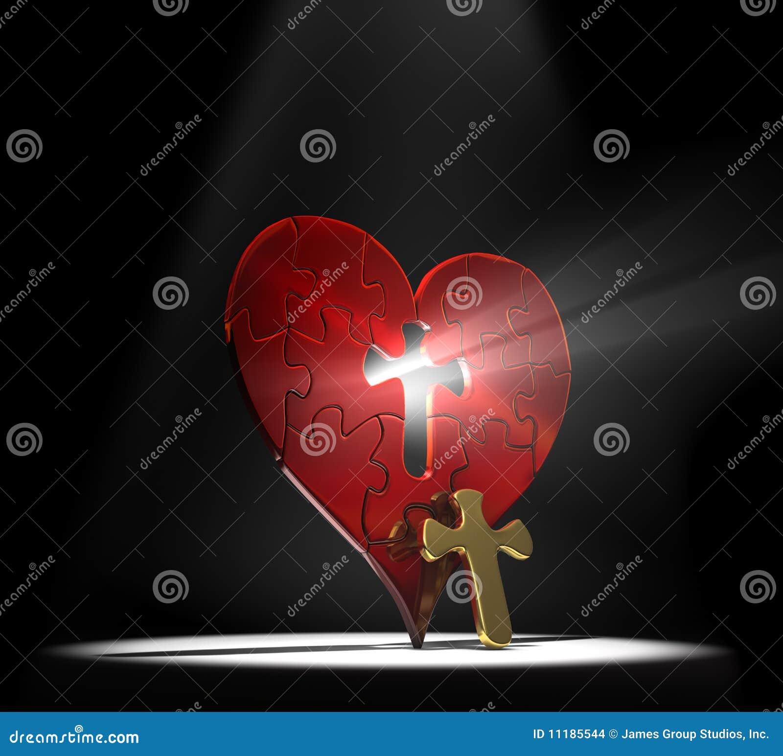 Rompecabezas del coraz n imagenes de archivo imagen for Fotos del corazon