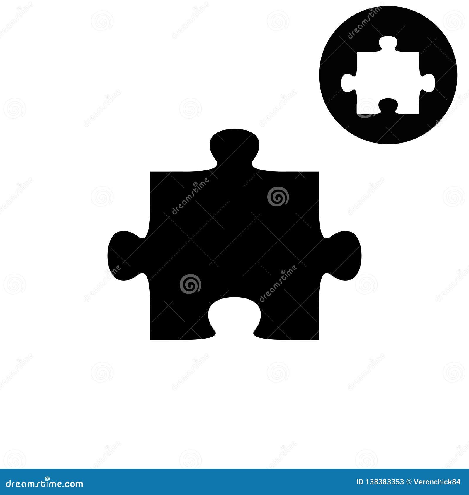 Rompecabezas - icono blanco del vector