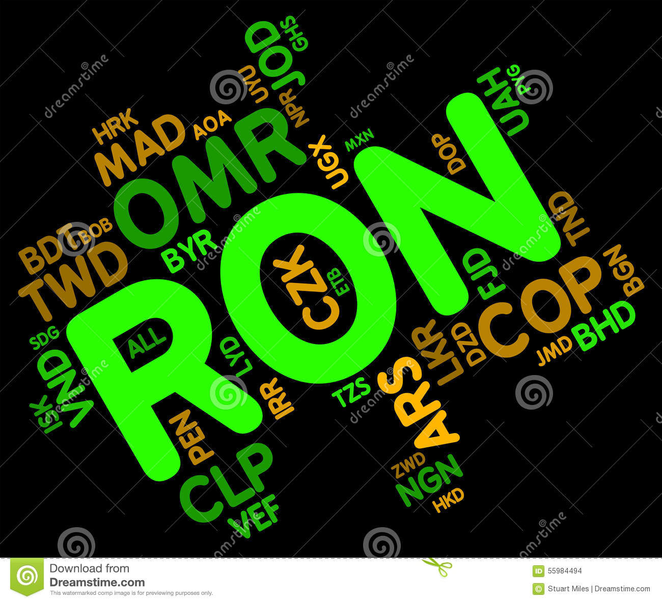 Ron Currency Represents Forex Trading y monedas