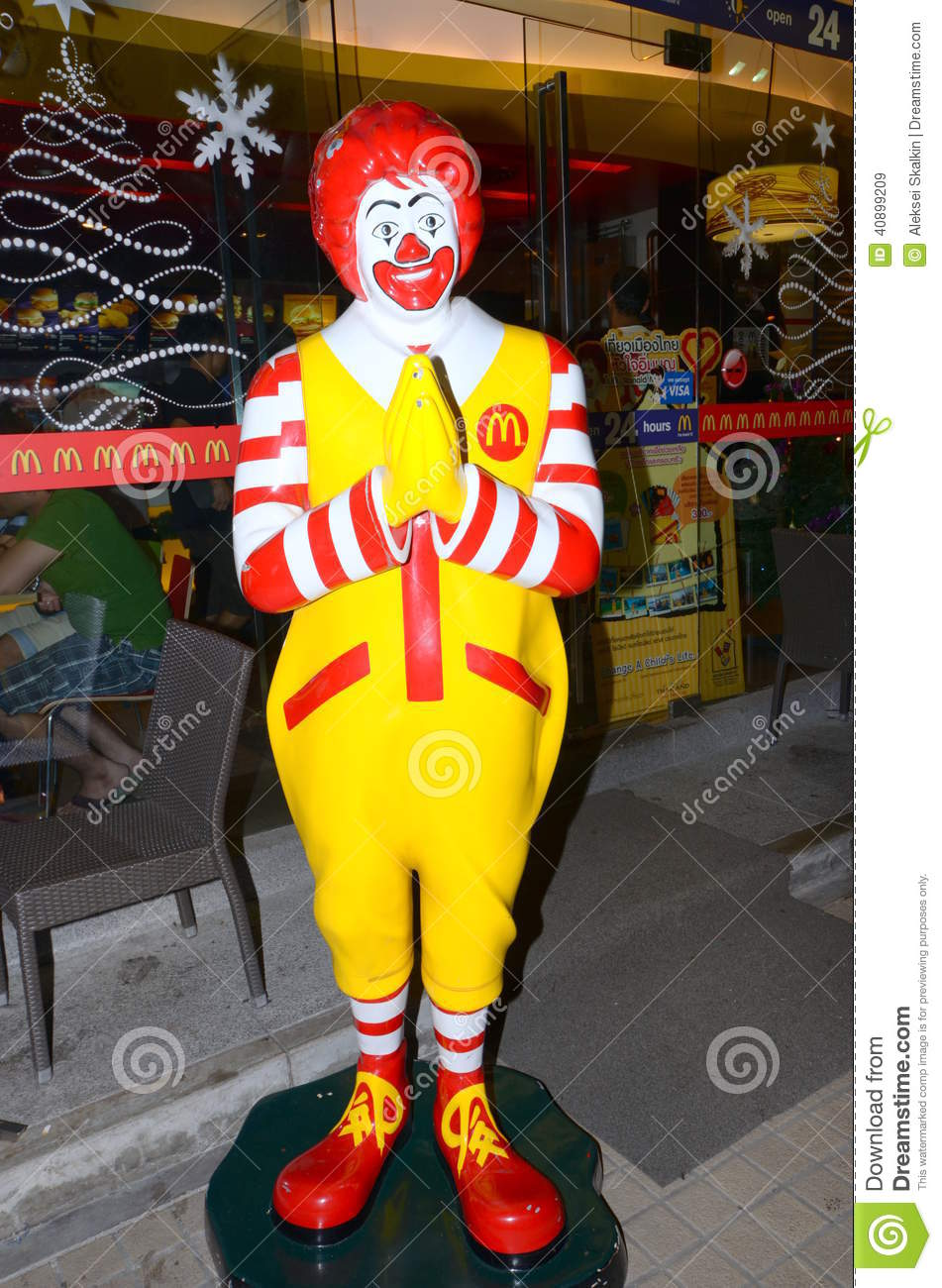 Ronald mcdonald hands clasped in a traditional thai greeting ronald mcdonald hands clasped in a traditional thai greeting kristyandbryce Images