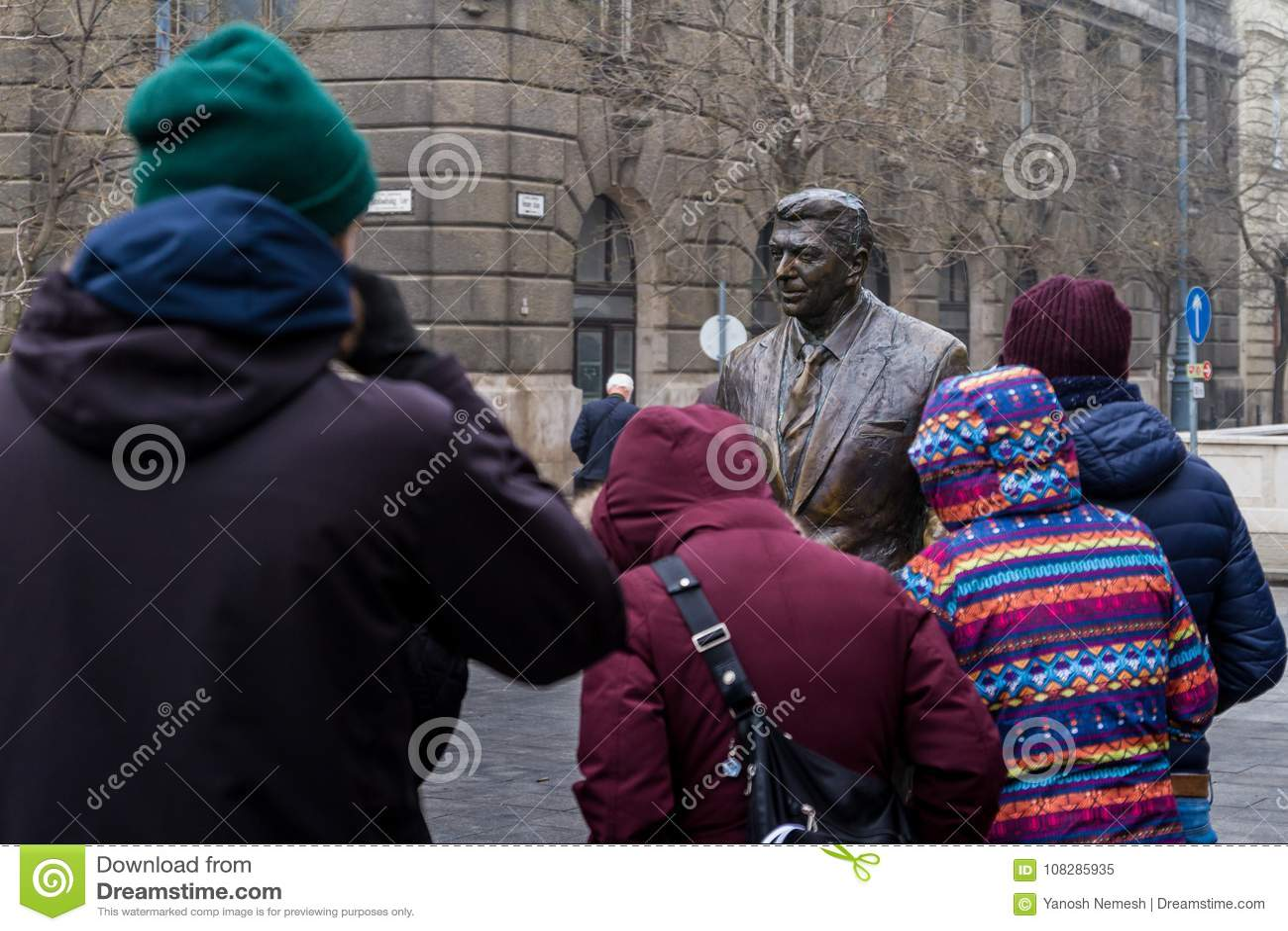 Ronald Reagan Statue in Budapest
