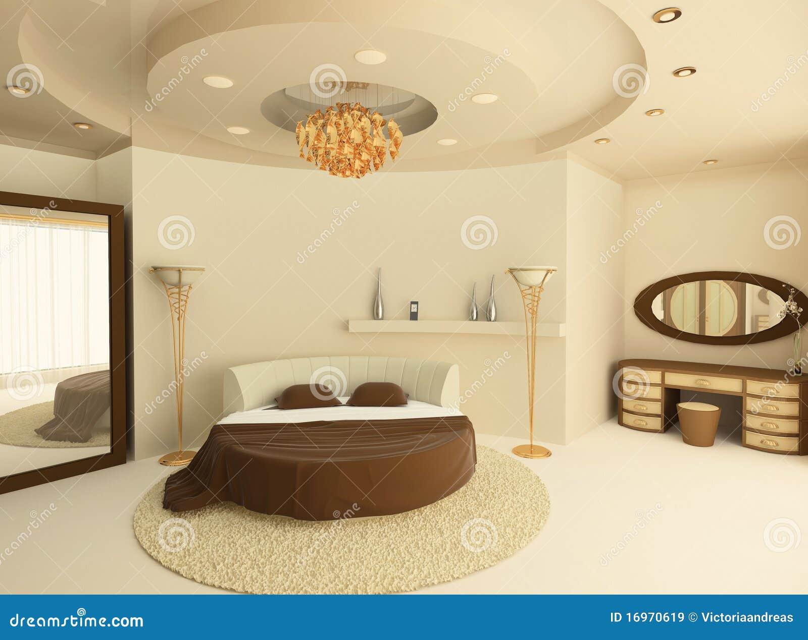 Rond bed met een opgeschort plafond in slaapkamer royalty vrije stock afbeeldingen afbeelding - Klassiek bed ...