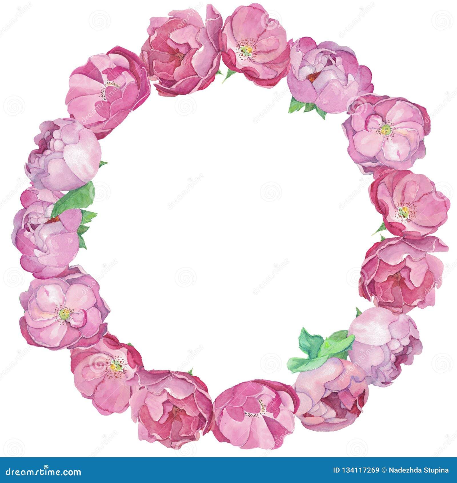 Rond Kader van peones en rozen
