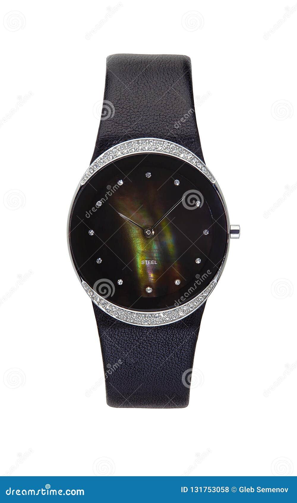 Ronda aislada reloj de plata