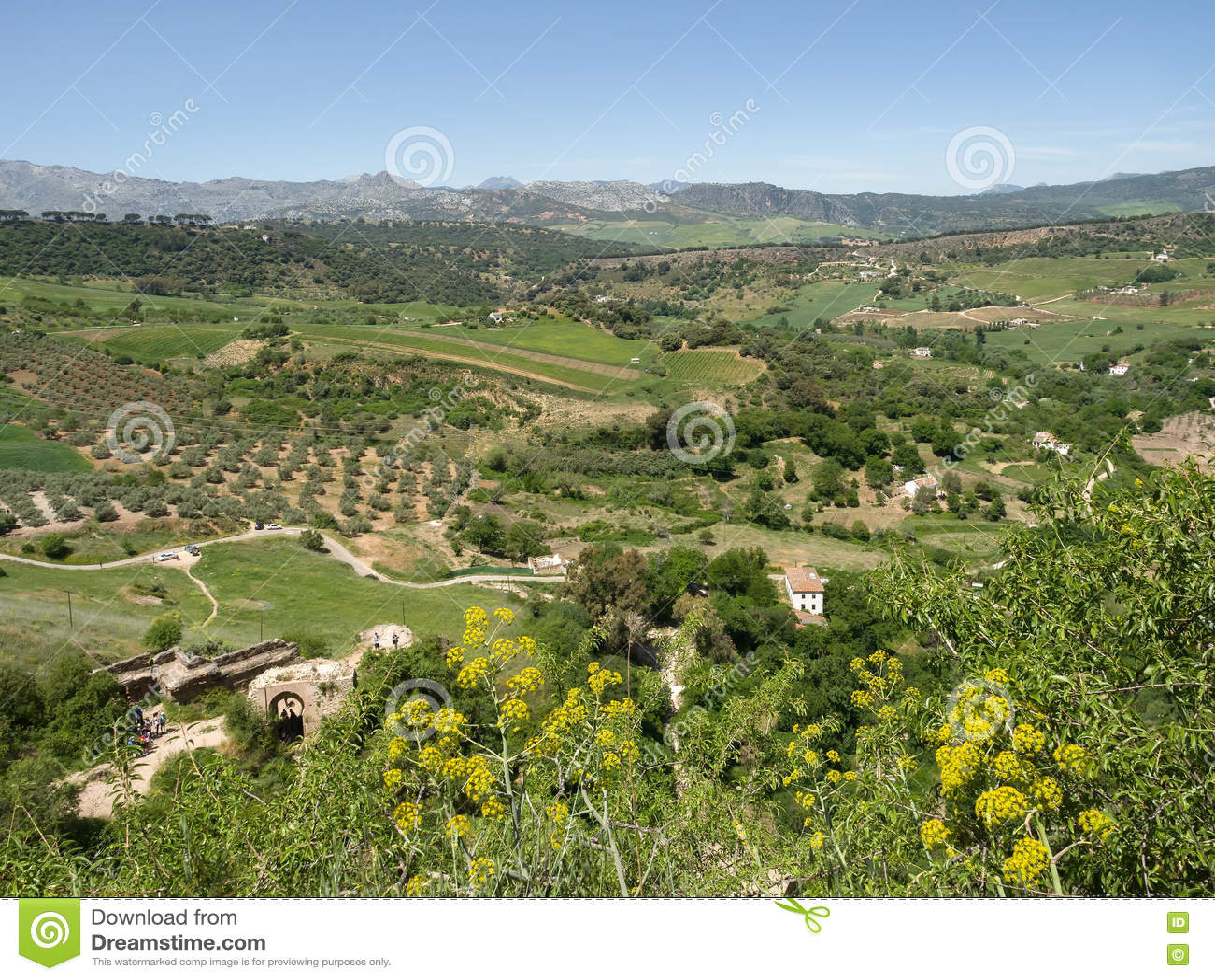 RONDA, ANDALUCIA/SPAIN - 8 ΜΑΐΟΥ: Άποψη της επαρχίας από Ro