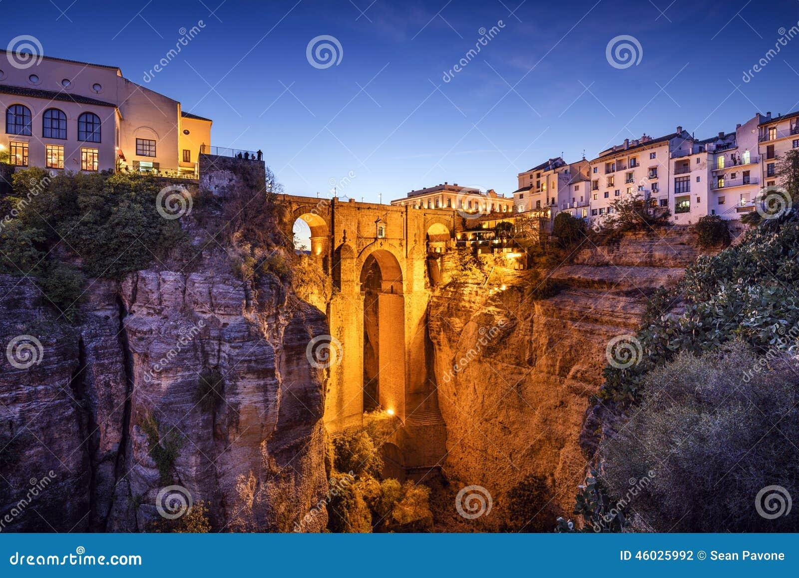 Download Ronda, Spain At Puento Nuevo Bridge Stock Photo - Image of nuevo, historic: 46025992