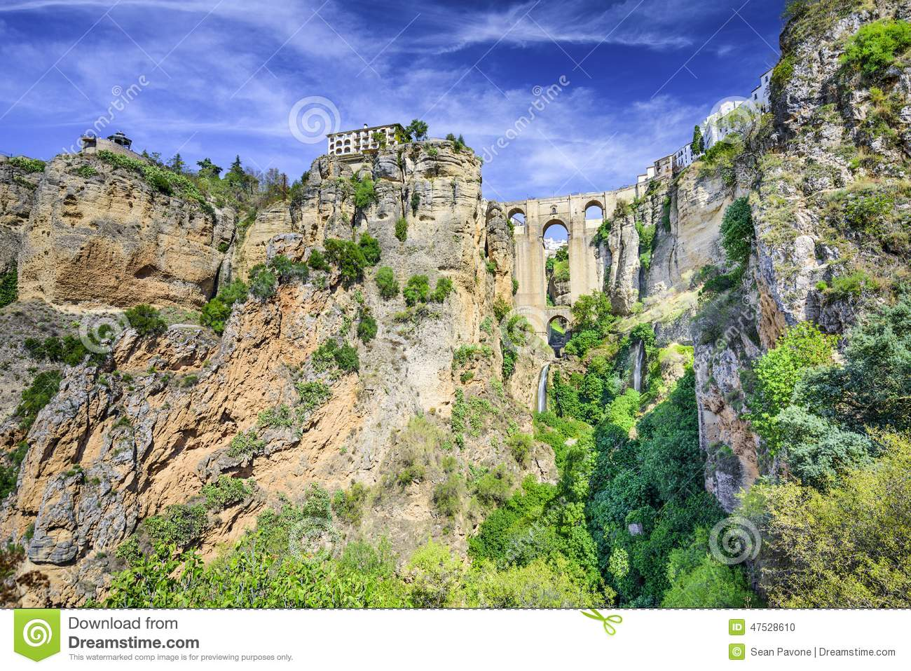 Ronda, Spain At Puento Nuevo Bridge Stock Photo - Image: 47528610