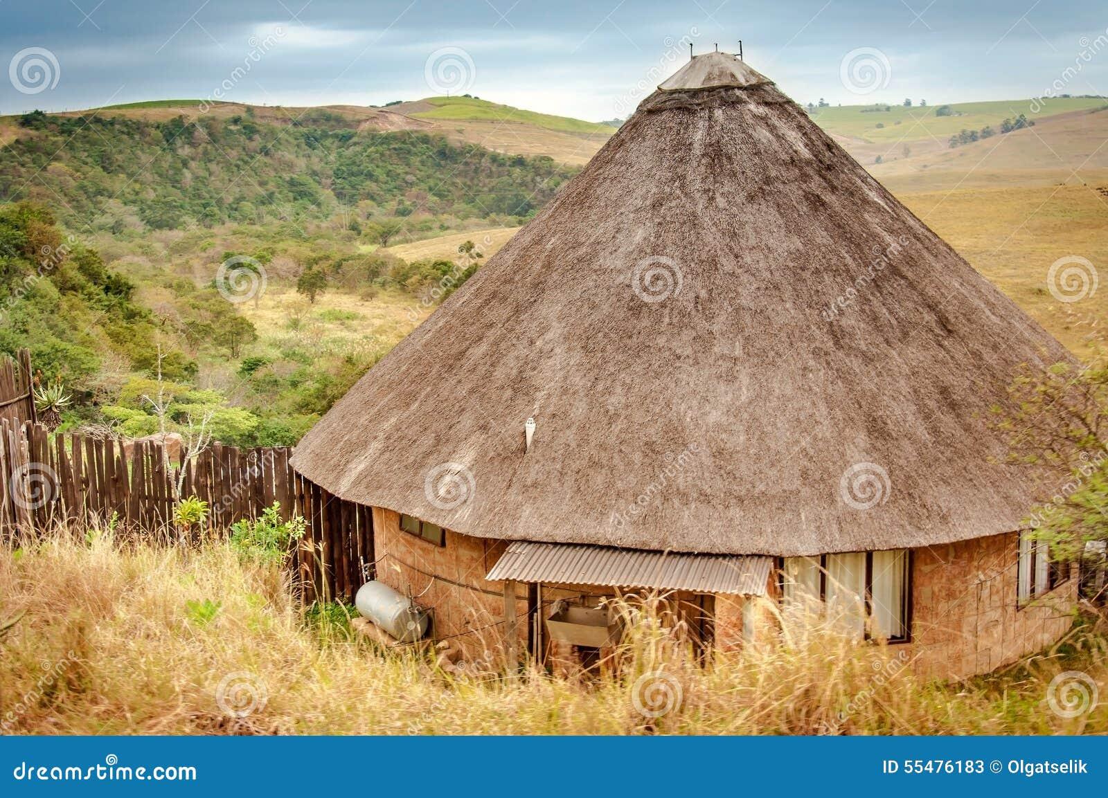 Rondavel traditional african house kwazulu