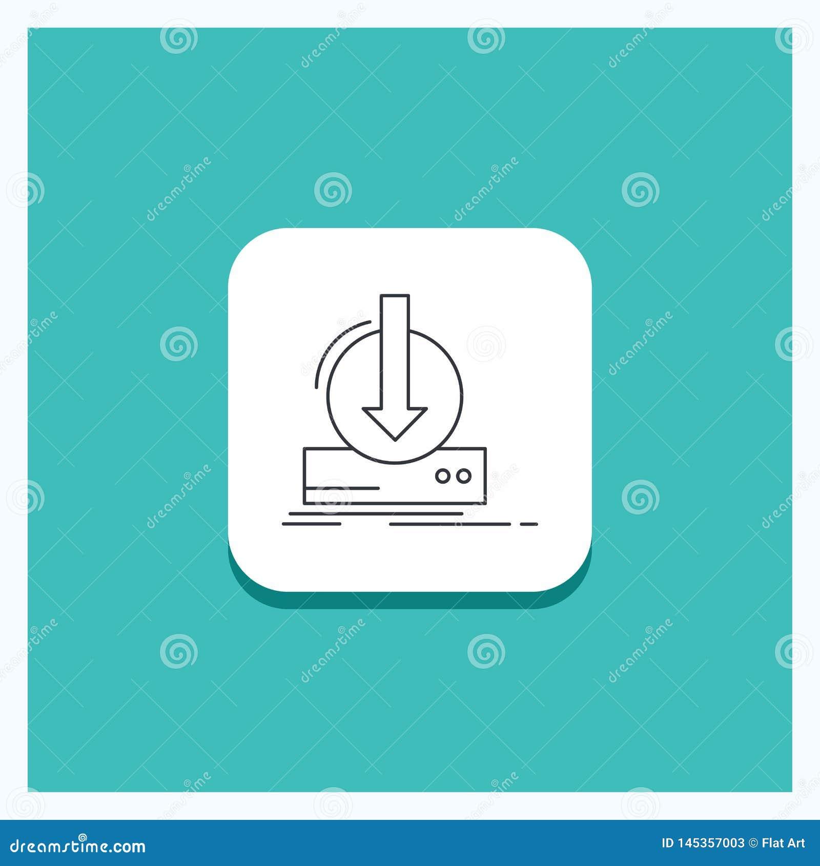 Ronde Knoop voor Toevoeging, inhoud, dlc, download, het pictogram Turkooise Achtergrond van de spellijn