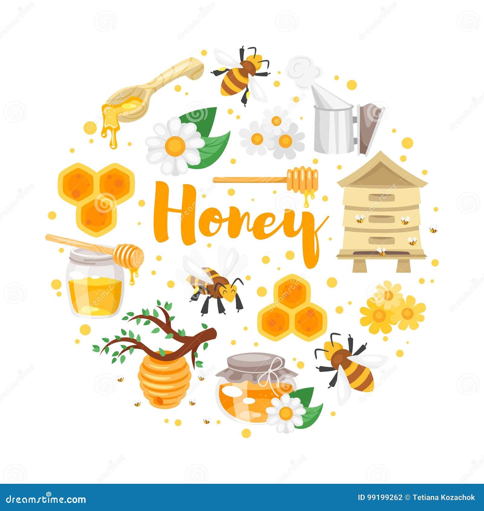 Ronde samenstelling van honing